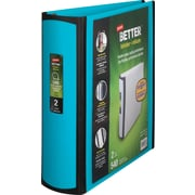 staples better 2 inch d 3 ring view binder teal 13470 cc staples