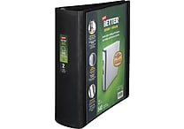 Staples Better 2-Inch D 3-Ring View Binder, Black (13393-CC)