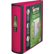 Staples Better 2-Inch D 3-Ring View Binder, Pink (13570-CC)