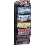 Safco® Onyx 5-Pocket Wall Magazine Rack