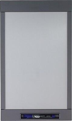 Quartet® InView™ Custom Whiteboard, Total Erase®, Graphite Frame, 12