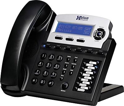 Xblue® X16 6-Line Backlit Digital Telephone, Charcoal