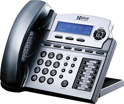 Xblue® X16 6-Line Backlit Digital Telephone, Titanium Metallic