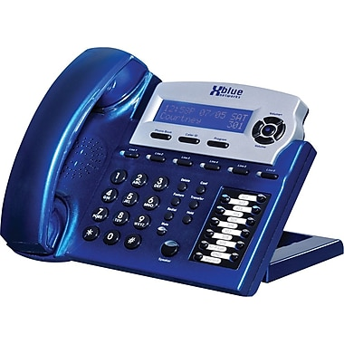 XBLUE X16 6-Line Small Office Digital Telephone, Vivid Blue