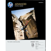 "HP Advanced Photo Paper, 8 1/2"" x 11"", Glossy, 50/Pack"