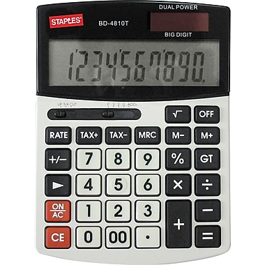 Staples® - Calculatrice de bureau à 10 gros chiffres