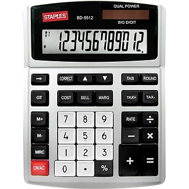 Staples® – Calculatrice de bureau robuste à 12 chiffres