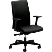 "HON® Ignition™ Series Mid-Back Chair, Fabric, Black, Seat: 20""W x 17""D, Back: 18 1/2""W x 25 1/2""H"