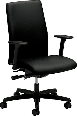 HON® Ignition™ Series Mid-Back Chair, Fabric, Black, Seat: 20