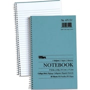 "TOPS® Spiral-Bound Notebooks, 9-1/2""x6"", College Ruled, White, Punched, 80 Sheets/Pad"