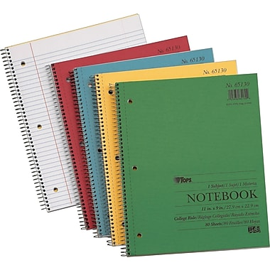 TOPS® Spiral-Bound Notebooks, 11