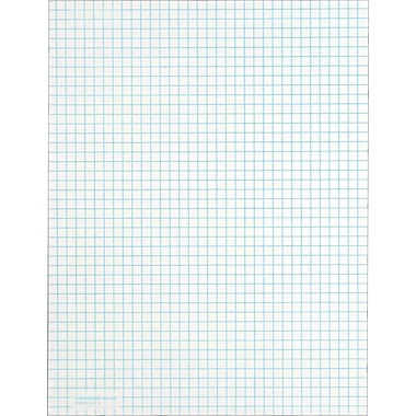 Quadrille Notepad, White, 4 Sq/In, Medium Weight, 50 Sheets, 12 Pads/Pack, 8-1/2