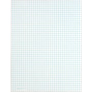 "Quadrille Notepad, White, 4 Sq/In, Medium Weight, 50 Sheets, 12 Pads/Pack, 8-1/2"" x 11"""