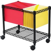 Safco Extra Capacity Wire Mobile File Cart, Black