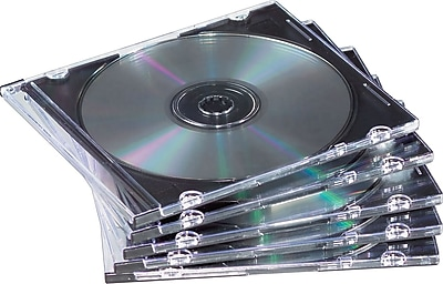 Fellowes® Slim Jewel Cases, Clear/Black, 100/Pk