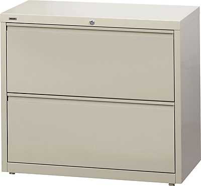 "staples commercial 2-drawer lateral file cabinets, 36"" wide, putty 2 drawer lateral file cabinet"