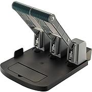 OIC Ergonomic Super Heavy-Duty 3 Hole Eco-Punch®, 160 Sheets/20 Lb., Black