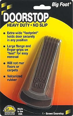 Master Caster Door Stop, Brown 446781