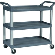 """Rubbermaid® 37-13/16""""H x 40-5/8""""W x 20""""D Commercial Open Sided Utility Cart, Black"""