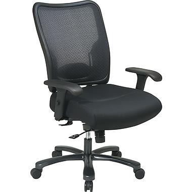Office Star - Fauteuil en mailles pour fortes tailles, noir