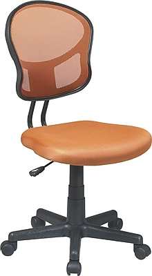 Office Star Fabric Computer and Desk Office Chair, Orange, Armless Arm (EM39800-18)