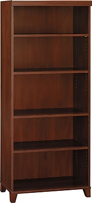Bush Furniture Tuxedo 5 Shelf Bookcase, Hansen Cherry