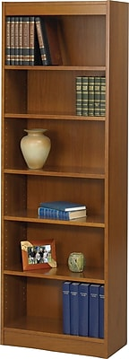 Safco Workspace 24'' 6-Shelf Bookcase, Oak (1512MOC)