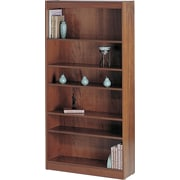 "SAFCO Workspace Veneer Baby 30"" Wide Bookcase, Medium Oak, 6-Shelf"