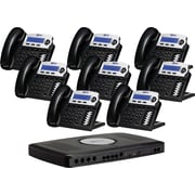 XBLUE X16 6-Line Small Office Telephone System, 8pk - Charcoal