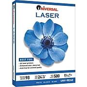"Universal 8.5"" x 11"" Laser Paper, 98 Brightness, 500/Ream (UNV98240)"