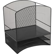 Staples Black Wire Mesh 2-Tier Hanging File Organizer