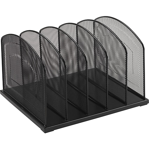 Staples Black Wire Mesh 5 Slot Vertical Sorter Rollover Image To Zoom In S 3p Com S7 Is