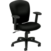 basyx by HON Fabric Computer and Desk Office Chair, Adjustable Arms, Black (HVL220VA10.COM) NEXT2017
