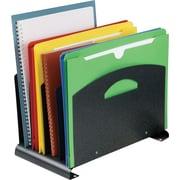 STEELMASTER® Contemporary Organizer with Handles, 4 Slots, Granite (2644510A3)