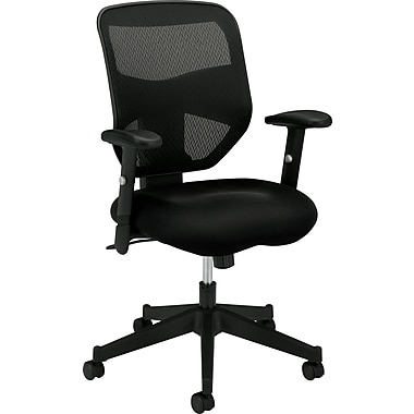basyx by HON Mesh Computer and Desk Office Chair, Adjustable Arms, Black  (HVL531MM10