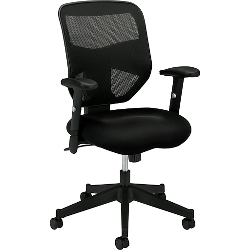 mesh back task computer chair for office and computer desks black