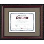 "World Class Document Frame w/Certificate, Walnut, 11""x14"""