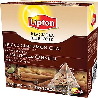 Lipton - Thé noir, chai épicé à la cannelle