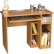 Bestar Basic Computer Desk, Cappuccino Cherry