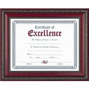 "World Class Document Frame w/Certificate, Rosewood, 8-1/2""x11"""