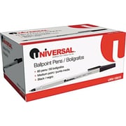 Universal Economy Value Pack Ballpoint Pen, Medium Point, Black Ink, 60/Pack (UNV15613)