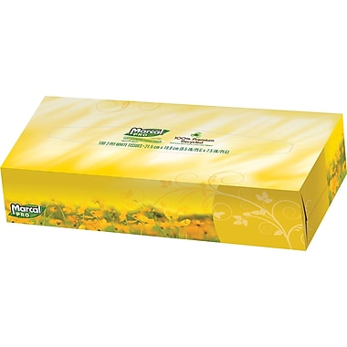 Marcal® 100% Recycled Facial Tissues, 2-Ply