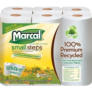 Marcal® 100% Recycled U-Size It™ Paper Towel Rolls, 2-Ply, 24 Rolls/Case