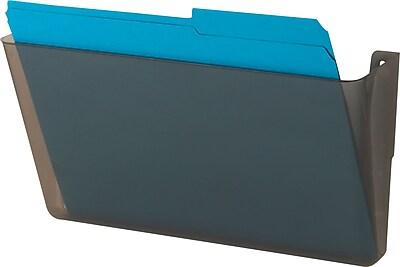 Staples® Expandable Wall Pockets, Letter, Smoke, 1 Starter Pocket