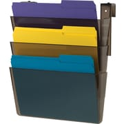 Staples® 3 Pocket Cubicle Wall File, Smoke