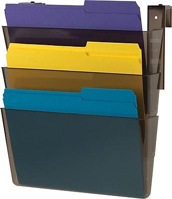Staples® 3 Pocket Cubicle Wall File, Smoke