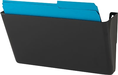 Staples Single Pocket Black Wall File, Letter Size