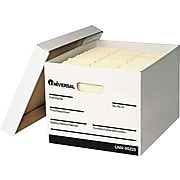 Universal Extra-Strength Storage Box, Letter/Legal Size, White, Stacking Strength 1,500 lbs., 12/Ct