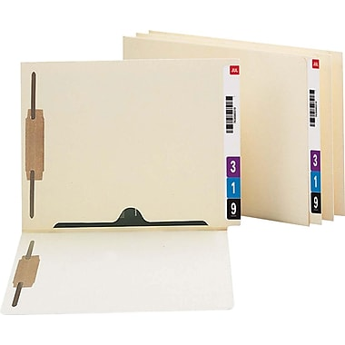 Smead Pocket Folder, 2 Fasteners, Straight Reinforced End Tab, Letter, , Manila, 50/Bx