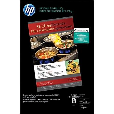 HP® - Papier pour brochures et circulaires, 11 po x 17 po, lustré